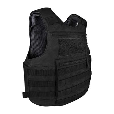 Pallaton-Blavk-DoubleVelcro-SideAngle-Clean Pallaton™ Tactical Carrier PRE Labs Inc.