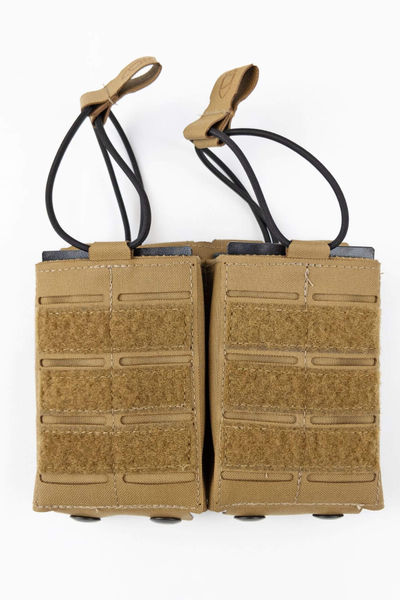 PRELabs-Double-Carbine-STAC-Pouch-Coyote-Front Double Carbine Mag STAC™ Pouch PRE Labs Inc.